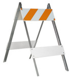 Barricades and LIght Boards for Stree Closure